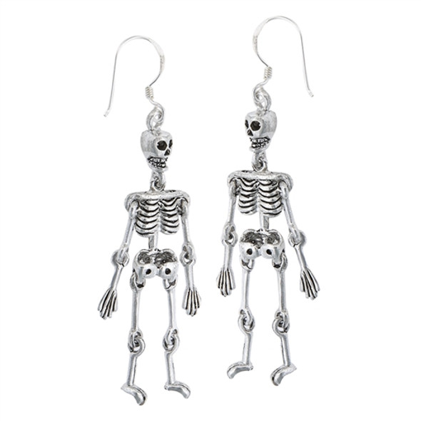 The Dangling Dead Sterling Skeleton earrings