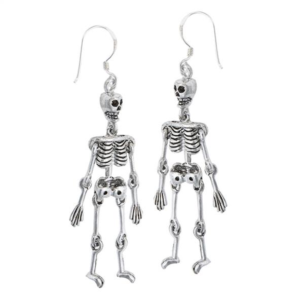 The Dangling Dead Sterling Skeleton earrings