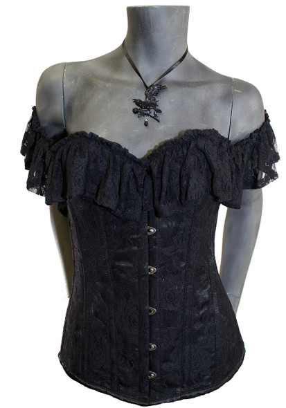 Belle's Angel Black Corset
