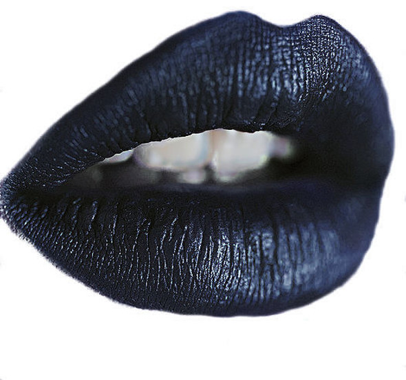 dark metallic blue liquid lipstick