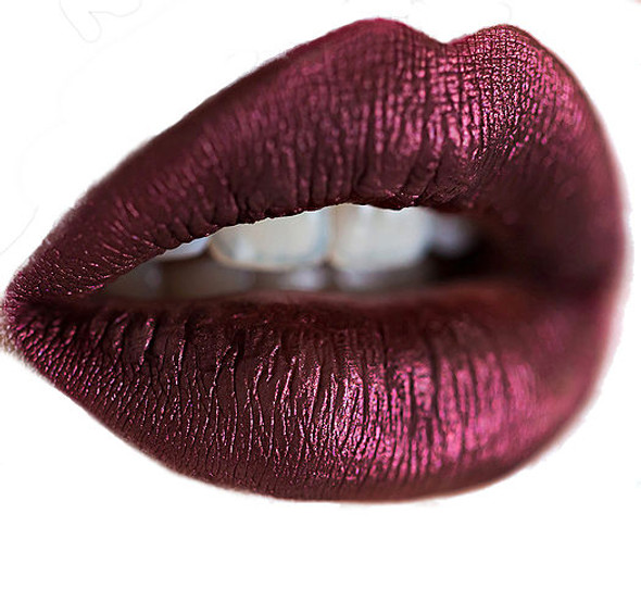 metallic red liquid lipstick