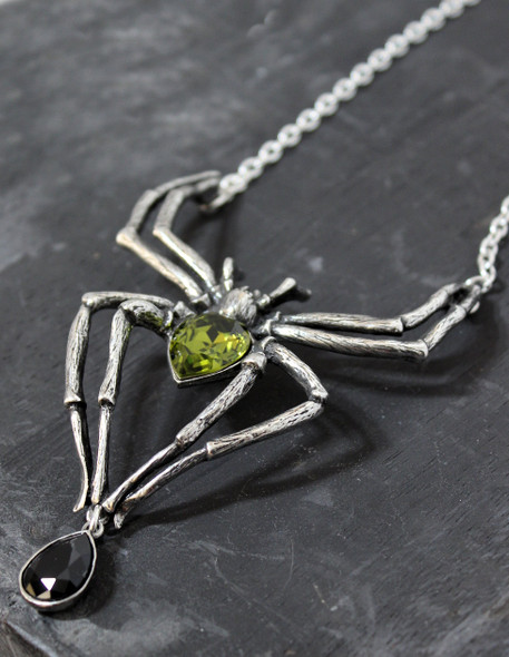 Emerald Arachnid Necklace
