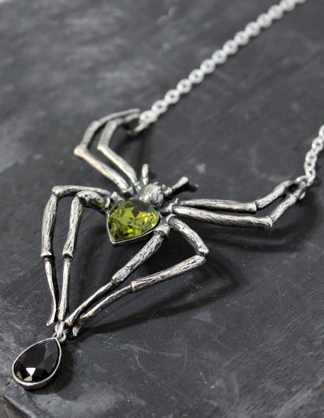 Emerald Arachnid Necklace