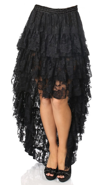 Plus Size Hi Low Lace tier skirt
