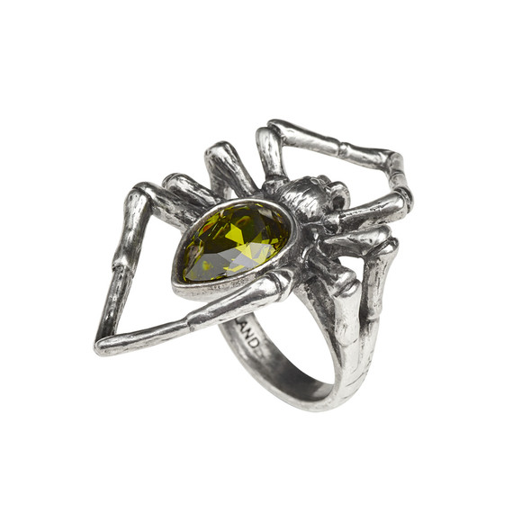 emerald spider ring