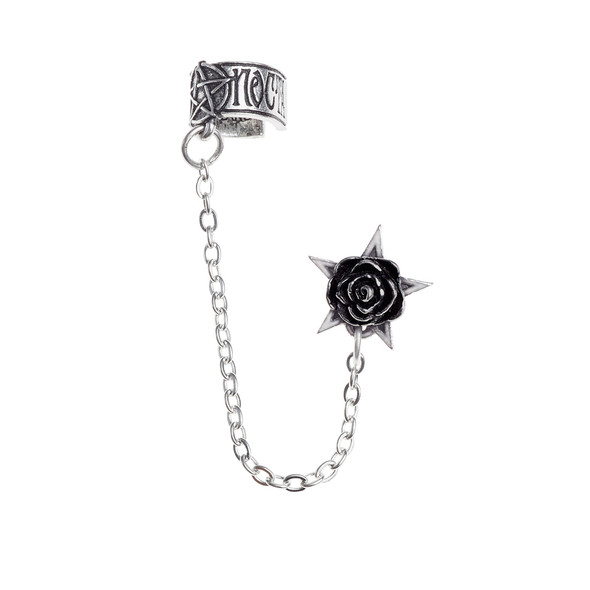 gothic pewter ear cuff and earring