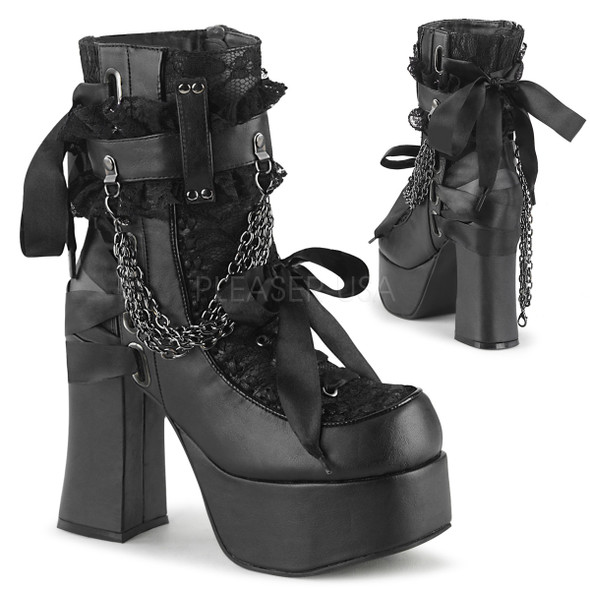 Chained in lace ankle boots