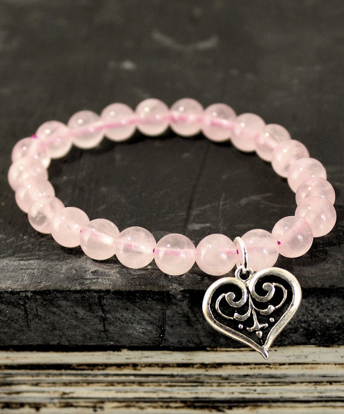 Rose Quartz Celtic Love Bracelet