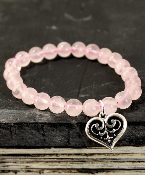 Rose Quartz Celtic Love Bracelet