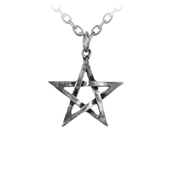 interwoven pewter pentagram necklace