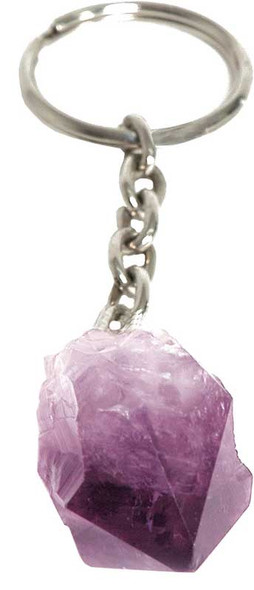 amethyst point keychain