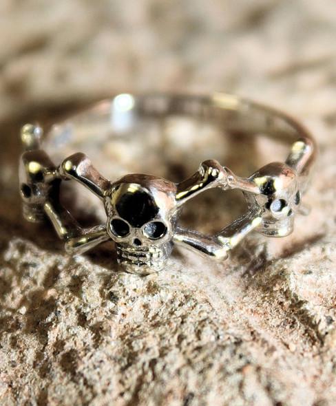Danse Macabre Sterling Ring