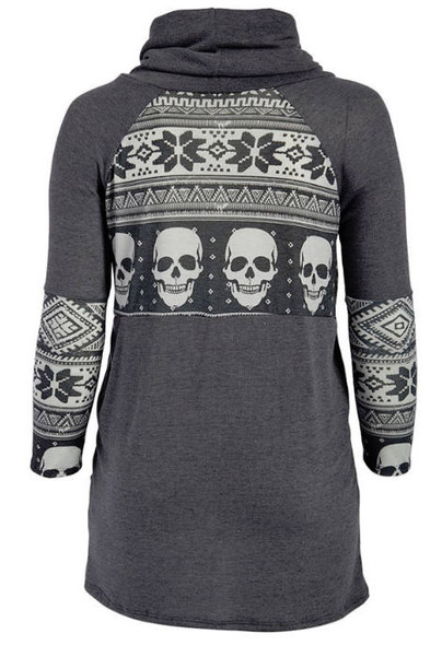 Skull and Scowl Top