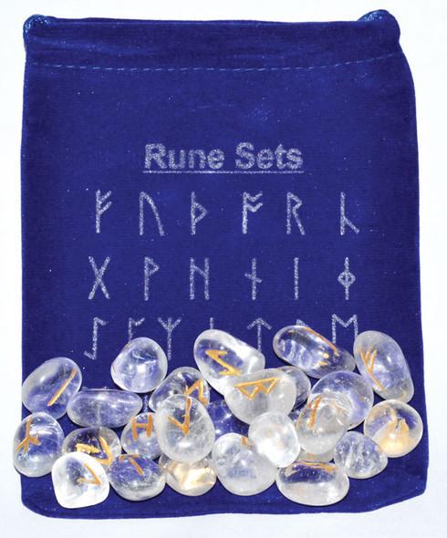 clear quartz runes set