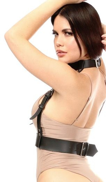 Matte Black Vegan leather Body Harness