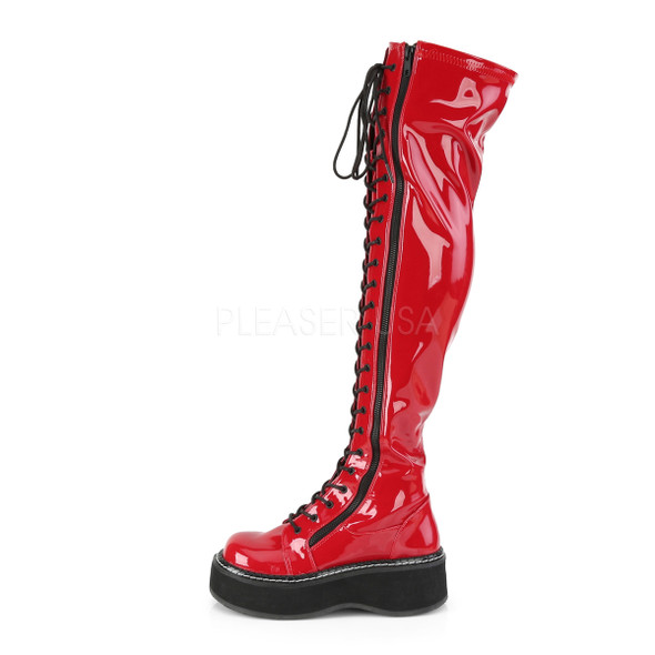 Where's the Fire Red thigh hi Combat Boots
