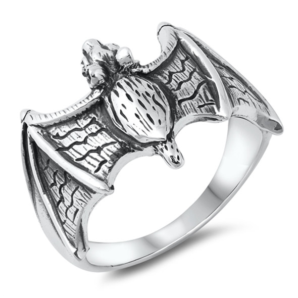 Sterling Silver Bat  Ring