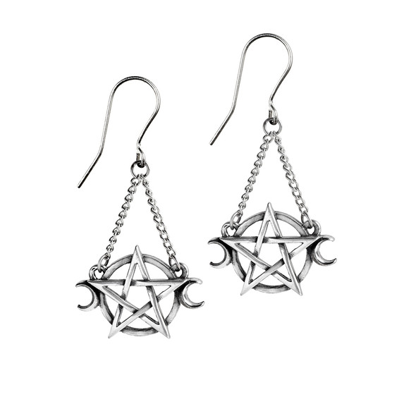 Moon and Star Goddess Earrings
