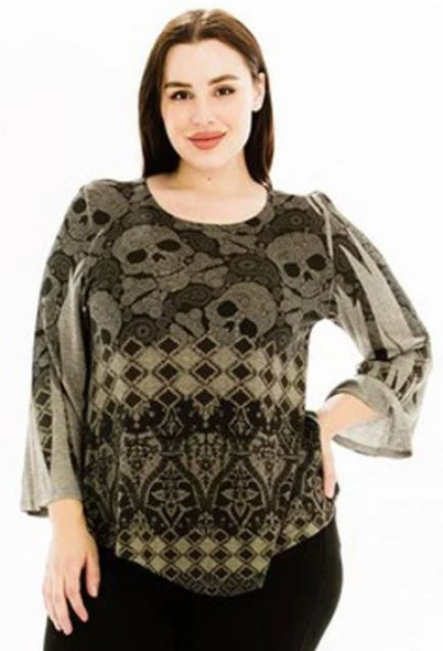 Skull back to Me top
