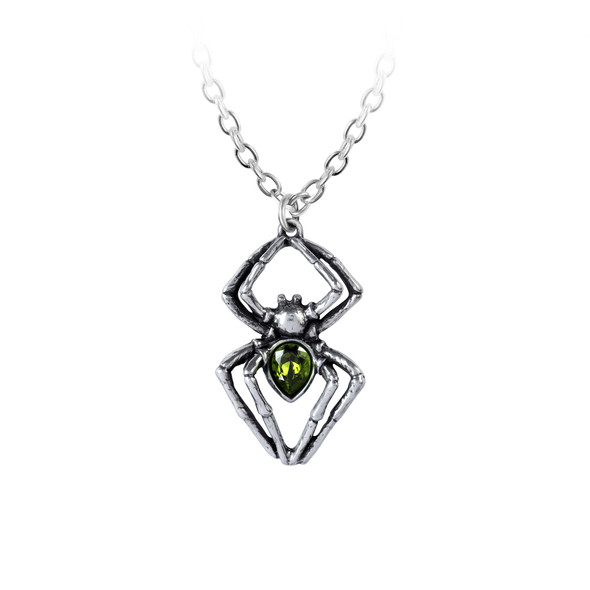 Emerald Spiderling Necklace