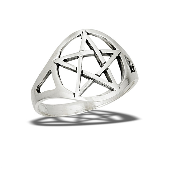 Sterling Classic Pentagram Ring