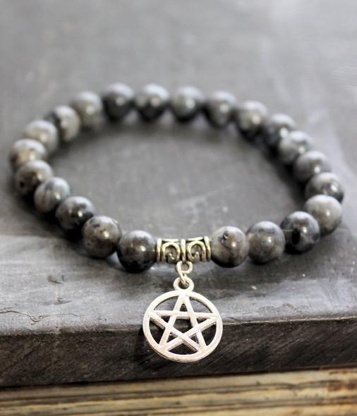 Larvikite Pentagram Bracelet