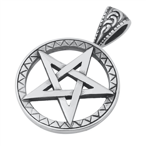 Stainless Steel Pentagram Pendant