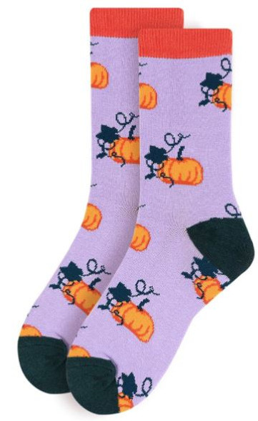 Grape Pumpkin Socks