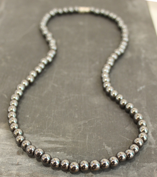 8 mm Hematite necklace