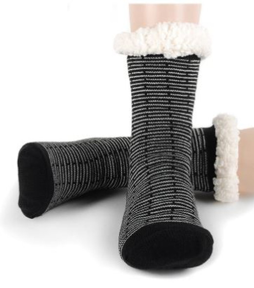 Black and White  Slipper Socks