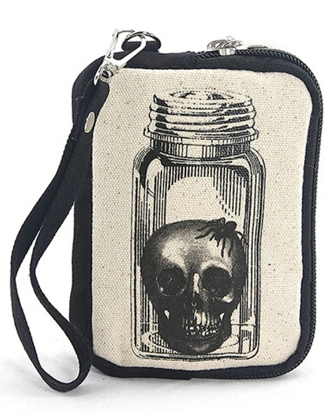 Head in a Jar Canvas Wristlet