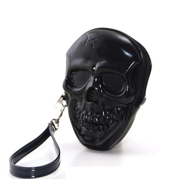Black Skull Wristlet