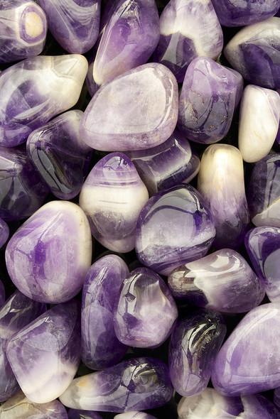 1 Pound Tumbled Chevron Amethyst stones