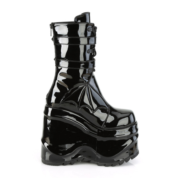 Black Patent Towering Bat Boots