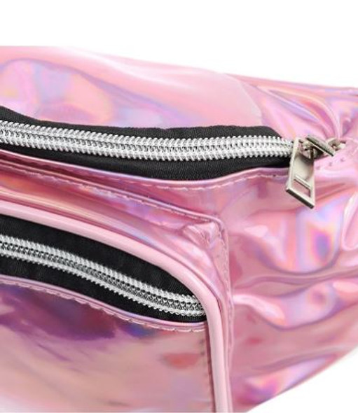 Pink Holographic Waist Bag
