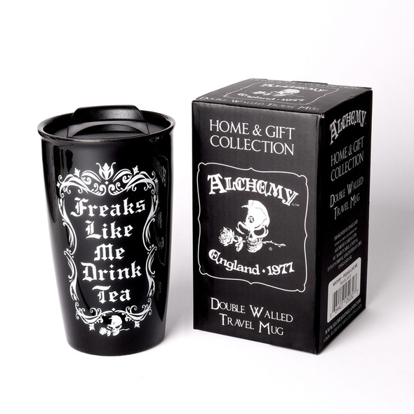 Freaks like me Drink Tea Travel Mug