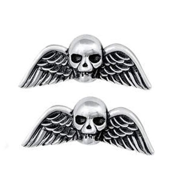 Deaths Head Sterling stud earrings