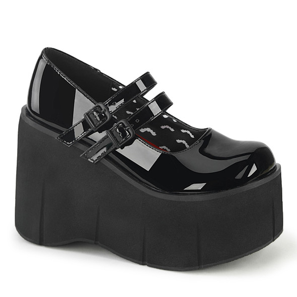 Patent Double Strap Mary Janes