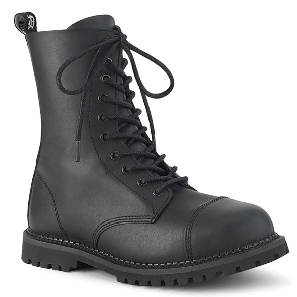 10 Eyelet Vegan Leather Riot Boots