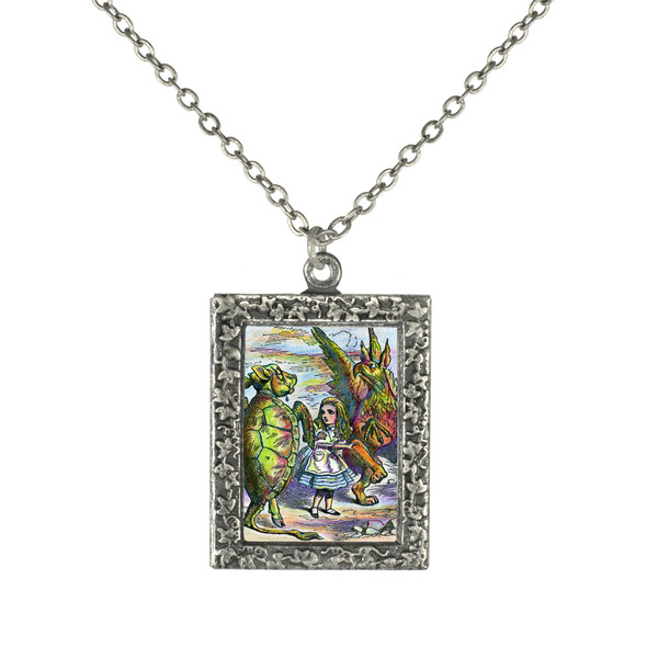 Alice, the Griffin and Turtle Necklace