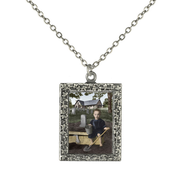 Mikey makes a Grave Mistake Necklace