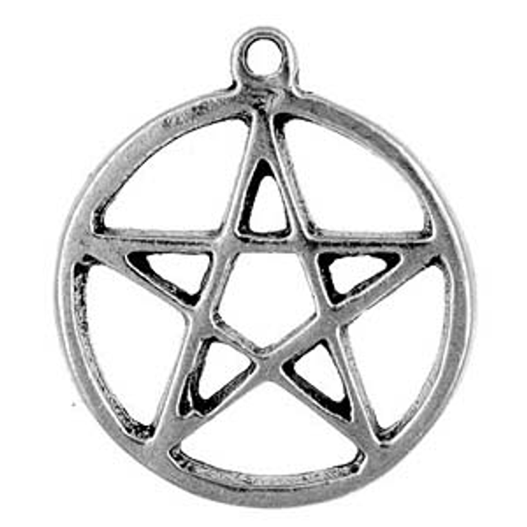 Wicca Pewter Pentacle