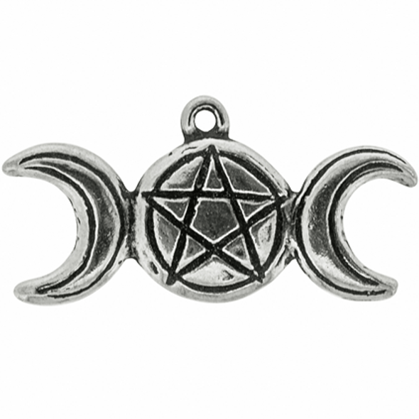 Practical Magik Triple Goddess pewter  necklace