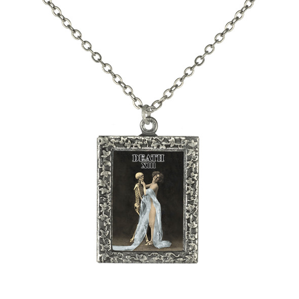 Death tarot Card Necklace