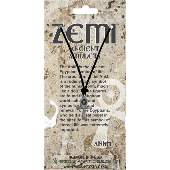 Zemi Ankh Pewter Amulet