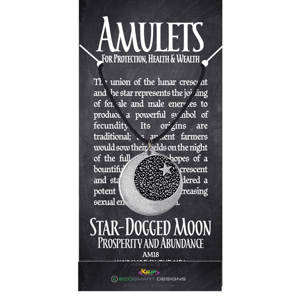 Star Dogged Moon Pewter Amulet