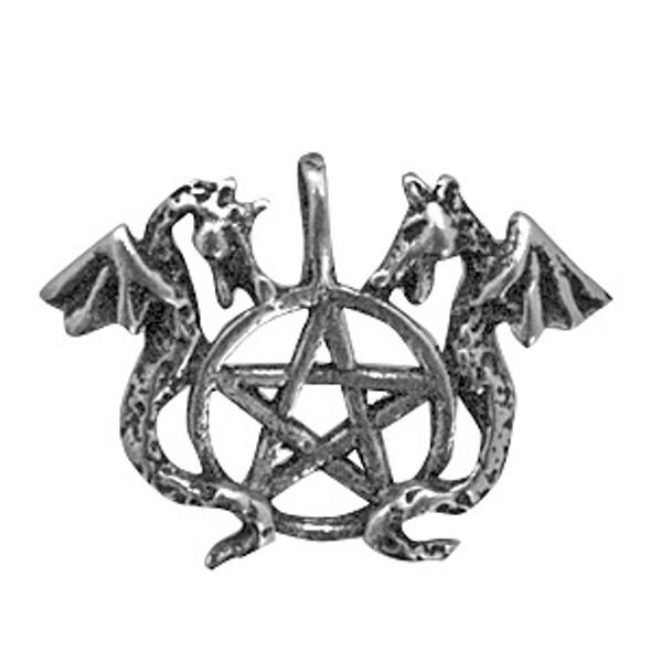 Dragon's Pentacle Pewter Amulet