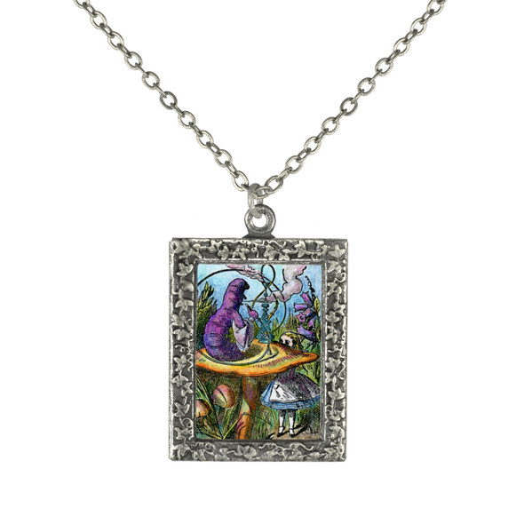 Alice and the Caterpillar Necklace