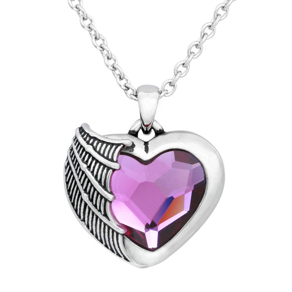 Batwing Heart Necklace