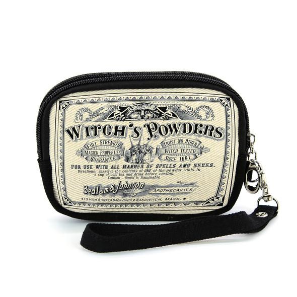 Witch's Powders Canvas Wristlet